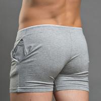 Wholesale superbody underwear - SBD001-4 Brand Men New Boxer Coon Solid Underwear Shorts Fashion Boxers Superbody