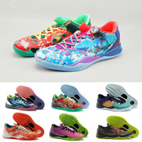 chaussures kb orange achat en gros de-Multicolore Qu'est-ce que kobe 8 VIII Système Haut Basket Chaussures pour Cheap Classic KB 8s Mamba Assassin / Pâques / Master Sports Sneakers Taille 40-46