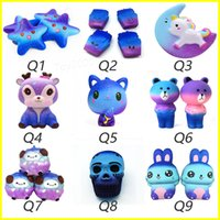 Wholesale chips tv - Squishy Star deer moon unicorn chips rabbit fox bear cub sheep skull squishies Soft Slow Rising Stretchy Squeeze Kids squishy toys gifts