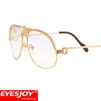 Wholesale read diamond - Luxury Metal Frames Reading Glasses Diamonds Gold Glasses Myopia Eyewear Frame Men Brand Designer Fashion Eyeglasses CT1112