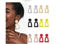 Wholesale square metal studs online - Fashion explosion style personal Earrings ornaments cross border personality personality geometric square metal Earrings female Stud