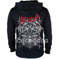 hoodie de rock venda por atacado-10 projetos Slayer Algodão macio Rock hoodies casaco shell punk heavy metal zíper camisola fleece sudadera Crânio treino