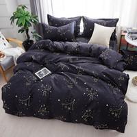 chinesische doppelbetten großhandel-Heimtextilien Galaxy Star Bettwäsche Constellation Bettbezug Bettwäsche Sets Twin Voll Königin King Size 3 / 4Pcs Kissenbezüge Bettlaken