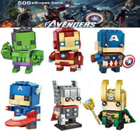 Wholesale minifigures toys resale online - minifigures Super Heroes Avengers Ironman Hulk Captain America Thor Mini Figures Building Blocks Sets Kids toy Bricks