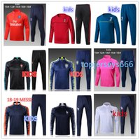 Wholesale training suit kid - Kids Tracksuit 2018 World Cup kids soccer jacket MBAPPE DYBALA GRIEZMANN MILAN child football Training suit