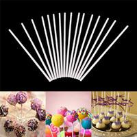 bastões de doces pop venda por atacado-100 pçs / set Doce Cor 15 cm Lollypop Colar Ferramenta-Grau de Papel Sólido Pirulito Vara Bolo Pop Varas Para Açúcar de Chocolate
