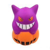 wholesale halloween novelty toys halloween squishy new demon pu simulation cm pumpkin ice cream squishy