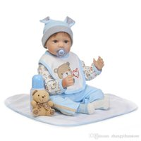 bebek kızı doğum günü hediyesi toptan satış-55 cm Yeni arrivel silikon reborn baby boy bebek oyuncak gerçekçi yenidoğan bebekler bebekler çocuk çocuk doğum günü hediyesi güzel kızlar brinqu