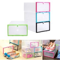 Wholesale Red Drawers - Transparent Drawer Case Plastic Shoe Boxes Storage Organizer Stackable Box