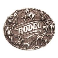 vaquero de rodeo al por mayor-Nuevo Vintage Rodeo Cowboy Man Western Belt Buckle Boucle de ceinture