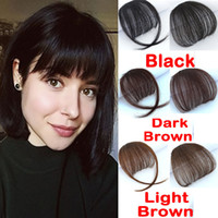 Clip In On Bangs Clip In Front Neat Bangs Fringe 100% Human Hair Extension Hand Tied Hair Bangs For Woman