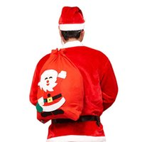Wholesale large feet online - Santa Claus Gift Bags For Merry Christmas Decorations Large Number Cozy Sack Chlidren Favour Joy Presents Storage Bag Red bx BB