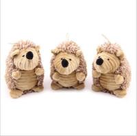 cão hedgehog venda por atacado-EMS Pet Som Hedgehog Pluft Bonito Brown Hedgehog Plush Pet Molar Brinquedos Gatos e Cães Universal H04sh Toy Gi1