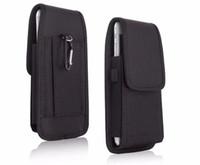 funda abatible al por mayor-Para Iphone Samsung Huawei Moto LG Universal Sport Nylon Cinturón Funda fundas Funda de cuero Cintura Paquete Bolsa Flip Funda para teléfono celular Fundas