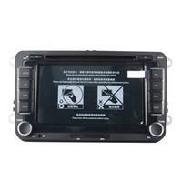 rádio tiguan venda por atacado-7 Polegadas 2 Din Car DVD Player de Navegação GPS Estéreo Rádio para Volkswagen VW Golf 6 Touran Passat B7 Sharan Touran Pólo Tiguan