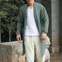 Wholesale hem jacket for sale - Coats Mens Long Jackets Outwear Long Sleeve Irregular Hem Retro Male Cloak Coats Casual Trench Windbreaker Hombre Brand