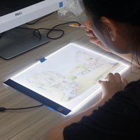 Wholesale simple drawings online - LED Luminescence Writing Board Household Light Pad Drawing Frame Drafting Copy Table Simple Brightness Painting Supplies cl Ww
