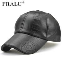 FRALU Nueva moda de alta calidad otoño invierno hombres sombrero de cuero  Cap informal moto snapback sombrero gorra de béisbol de los hombres al por  mayor cfcb6b19578