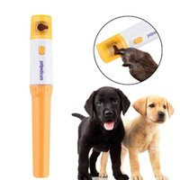 Wholesale dog nail filing - Electric Pet Paws Nail Grinder Trimmer Clipper Dog Cats Grooming Grinding Painless Portable Plastic Nail File Kit Drop Shipping