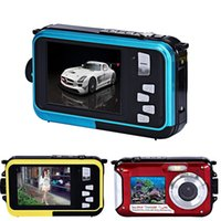Wholesale Christmas Double Screen Waterproof Camera MP x Digital Zoom Dive Camera
