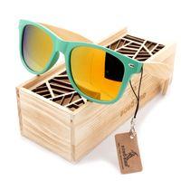 vögel handgefertigt großhandel-Bobo bird mode holz bambus männer sonnenbrille frauen brillen plasti sonnenbrille handgefertigte billige brille benutzerdefinierte logo in holzkiste