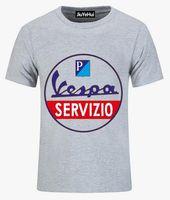 Wholesale Legends Tshirt - 2018 Men Vespa Servizio vintage T Shirt Vespa Service T-Shirt Male tshirt custom made Italian legend Vespa Scooter Tee camisetas