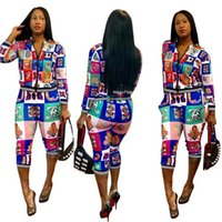 tulum tarzı moda toptan satış-Moda Stil Kadınlar Kadınlar Için Tulum Yenilik Baskı Iki Adet Tulum Seksi Kulübü Vücut Femme Giysi Set