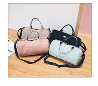 Wholesale Canvas Shoe Bags Wholesale - Fashion Letter Print Men Travel Bag Women Luggage Backpacks Shoe Case Travel Bags 4Colors canvas Bag Men YYA971