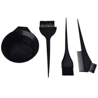 Wholesale hair dye brushes resale online - Hair Color Dye Bowl Comb Brushes Tool Kit Set Tint Coloring