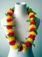 Wholesale Hawaii Lei - New ! Free shipping KL36341A 50PCS   LOT 90CM Plastic Lehua Necklace lei Hawaii Hula Dancer ,party Summer beach polynesian