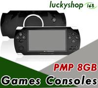 nueva cámara mp4 al por mayor-PMP 4GB 8GB Consola de juegos portátil Reproductor mp4 de pantalla de 4.3 pulgadas Reproductor de juegos MP5 Soporte real de 8GB para juegos de psp, cámara, video, libro electrónico NUEVO 50X