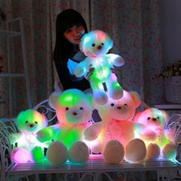 Wholesale fool toys for sale - Romantic Colorful Flashing Light LED Bear Stuffed Plush Toys Teddy Bear Doll Xmas Cute Gift Kids Birthday Valentines Gift