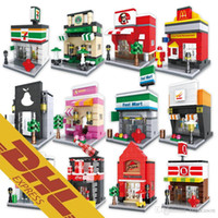 Wholesale Mini Stores - Mini Street Stores Mcdonald's KFC 7-Eleven Starbucks Family Mart Sport Sweet Shop UNIQLO Pizza Hut Cocacola Circle K Building Blocks To