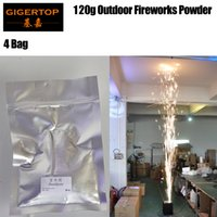 Wholesale fountain machines for sale - 4 Bag Cold Spark Fountain Machines Powder Gray Color No Hot No Fire Safe Fireworks Powder China Supplier TIPTOP Stage Light