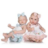 ingrosso bambole della ragazza del silicone pieno del corpo-neonato di tutto il corpo in vinile morbido silicone 11inch bambole reborn realistici neonata regali della bambola bebe simulazione 28 centimetri