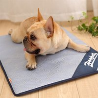 Wholesale cat sleeping pad - Dog cat Summer sleeping mat Ice pad Pet Poodle Small large dogs Rattan Sleeping Bed Cooling Floor Mats Cold Cushion 50hy4 gg