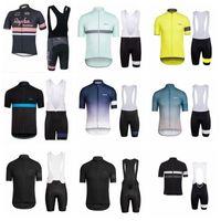 jersey de bicicleta cielo negro al por mayor-2018 Summer Style Men Sports Jersey Ciclismo Bicicleta Manga Corta RAPHA Cycling Clothing kit road Bicicleta Equipo Jersey Maillot Ciclismo K11019