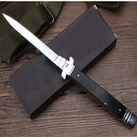 Wholesale knives for wood - Italy mafia INCH MT Rosewood handle single action automatic knife camping knife gift knife for man
