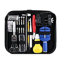 Wholesale watchmakers repair tools for sale - Group buy 147 Watch Repair Tool Kit Case Opener Link Spring Bar Remover Watch Kit Metal Watchmaker Tools For Adjustment Set Band