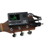 Wholesale electric bass violin - Aroma AMT-560 Electric Tuner Metronome Pickup For Guitar Bass Violin Ukulele