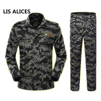 trajes de combate negro al por mayor-LIS ALICES2018 Escudo Lang Black Hawk Hombres Traje de Camuflaje Nueva Marca Fuerzas Especiales Combat uniform Men Sets Jacket + Pants