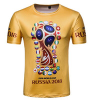 Wholesale german t shirts - crew neck FIFA WORLD CUP RUSSIA 2018 Men's T-Shirts Germanic chariot German football team t shirts