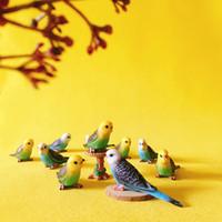 Wholesale Cute Parrot - New~10 Pcs bird parrot animals  miniatures cute  fairy garden gnome moss terrarium decor crafts bonsai bottle garden figurine
