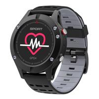 wasserdichte höhenmesseruhr großhandel-F5 Smart Watch IP67 Pulsmesser GPS Multi-Sport Modus OLED Höhenmesser Bluetooth Fitness Tracker Android iOS wasserdicht 6pc / lot