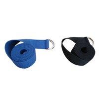 ingrosso cintura di corda di yoga-Nuove donne multi-colori Yoga Stretch Cinturino D-Ring Cintura Fitness esercizio palestra Corda Figura Vita Leg resistenza Fasce Fitness cotone 180CM * 3.8CM