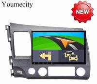 honda civic dvd wifi großhandel-Android 8.1 2 DIN 10.1 Octa-Core-Auto-DVD-GPS für Honda Civic 2006-2011 Acura CSX Kapazitiver Bildschirm + WLAN + 2G RAM