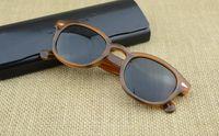 очки johnny оптовых-Фирменный стиль S M L Frame 18 Цветные солнцезащитные очки для линз Lemtosh Очки Johnny Depp Высококачественные очки Arrow Rivet 1915 с футляром