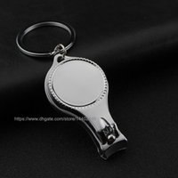 Wholesale keychain promotional gift - 100pcs FREE Customized Logo Company Gift Promotional Gifts Wine Bottle Opener Openers Keychain Key Ring Nail Clippers