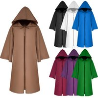 Wholesale men costume robe resale online - Christmas Cosplay Cloak Costumes Adult Kids Hooded Robe Cloak Cape Costume Halloween Dress Scary Clothes