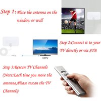 ingrosso amplificatore antenna digitale tv-200 Mile Range Antenna TV Digital HD Skylink 4K Antena Digital Indoor HDTV 1080p con amplificatore